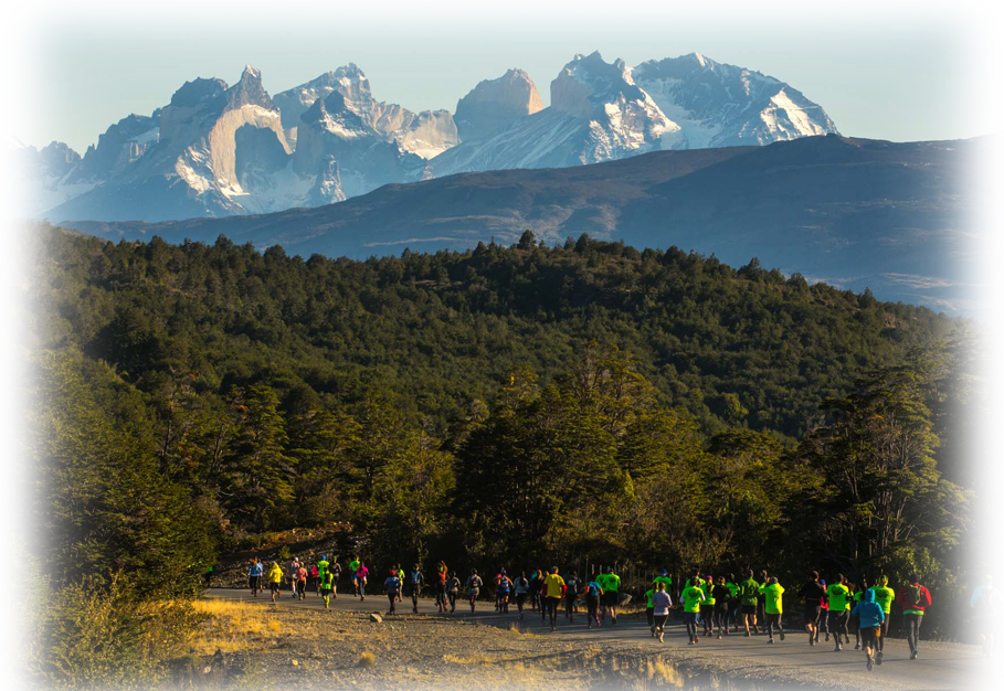 Patagonian International Marathon Chilean Patagonia Road Running, Patagonia, Chile