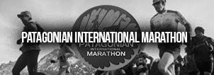 Patagonian Internaitonal Marathon Running Event Patagonia, Chile Banner Black White