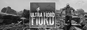 Ultra Fiord Trail Running Event Patagonia, Chile Banner Black White