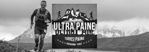Ultra Paine Trail Running Event Patagonia, Chile Banner Black White
